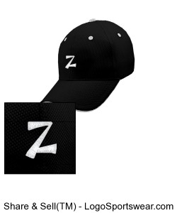6 Panel Cool Mesh Fitted Cap Design Zoom